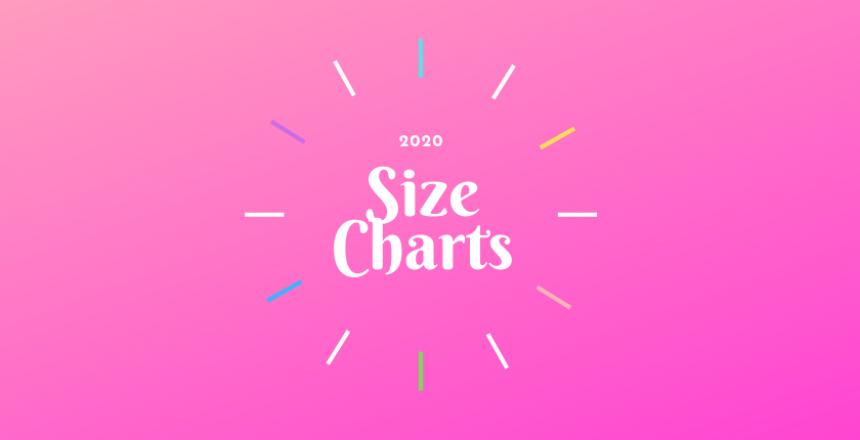 2020 Size Charts